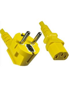 POWER CABLE 1.8 M - C13-CEE7/5 - YELLOW
