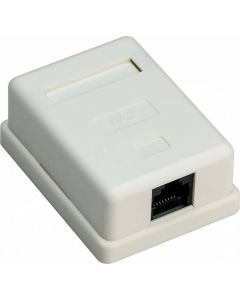 CONNECTION BOX UNSHIELDED WALLMOUNT CAT6 1 PORT RJ 45