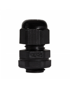 LOGILINK CABLE GLAND M12, IP68, BLACK, SET WITH 10 PCS.