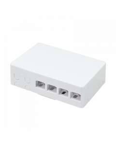 LOGILINK FTTH SURFACE MOUNT BOX, 4 PORTS, WHITE