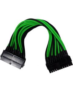 GAMMEC 24 PIN GREEN/BLACK INTERNAL EXTENSION CABLE FOR MOTHERBOARD - 25CM