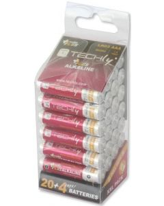 TECHLY AAA ALKALINE PLUS BATTERIES 24PCS