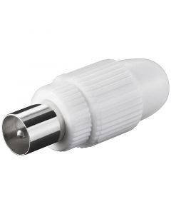 TV COAXIAL PLUG 9.5 MM MALE - SCREW TYPE