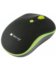 TECHLY WIRELESS MOUSE 2.4 GHZ BLACK / GREEN