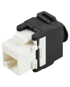 CAT6 UTP TOOLLESS KEYSTONE JACK WITH CABLE HOLDER