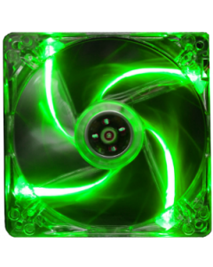 ALANTIK TRANSPARENT CASE FAN WITH GREEN LED LIGHT - 14CM