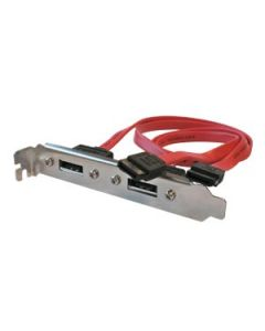SATA 2-PORT SLOT BRACKET 0,50M