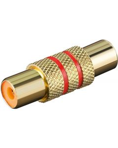 RCA JACK TO RCA JACK GOLD PLATED AUDIO ADAPTER