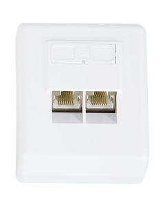 CAT6 DUAL WALLPLATE SURFACE MOUNT