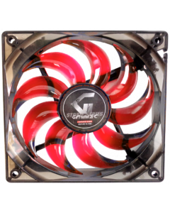 GAMMEC TRANSPARENT CASE FAN WITH RED LIGHT -  12CM