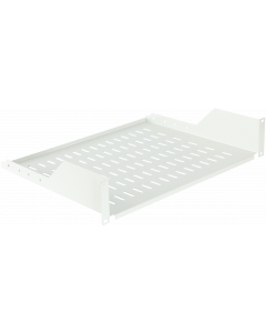 "LOGON 2U 19"" D=350mm RACK MOUNT SHELF WHITE"