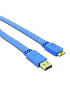 TECHLY USB 3.0 CABLE A M/MIC B M FLAT 0,5M