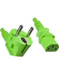 POWER CABLE 1.8 M - C13-CEE7/5 - GREEN