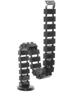 TECHLY BLACK CABLE MANAGEMENT SPINE - 130 CM