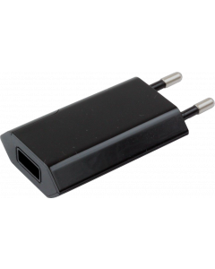 TECHLY POWER ADAPTER SLIM USB 5V 1A BLACK