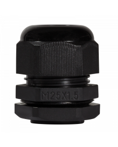 LOGILINK CABLE GLAND M25, IP68, BLACK, SET WITH 10 PCS.