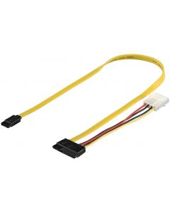 PC POWER SUPPLY CABLE, 0.5 M - SATA 2-IN-1 DATA SIGNAL + POW