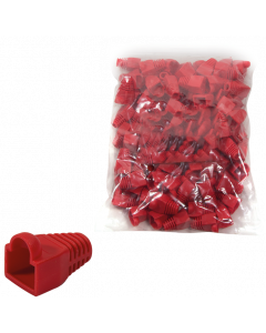 RJ45 RED BOOT/KINK PROTECTION SLEEVE 5,88MM - 100-PACK