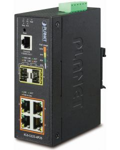 PLANET 4-PORT 10/100/1000T PoE INDUSTRIAL MANAGED ETHERNET SWITCH