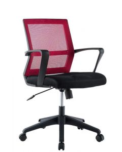 OFFICE CHAIR WITH MIDDLE BACK BLACK / BORDEAUX