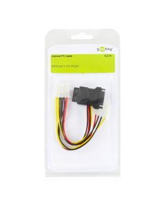 INTERNAL PC CABLE, 0.2 M - SATA JACK > 3X 5.25