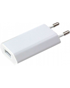 TECHLY POWER ADAPTER SLIM USB 5V 1A WHITE