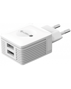 TECHLY POWER ADAPTER 2XUSB 5V 2.1A WHITE