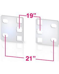 """TECHLY PAIR OF REDUCER BRACKETS FROM 21"""" TO 19"""" - 1U"""
