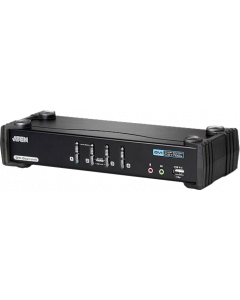 ATEN 4-PORT USB DVI KVMP SWITCH WITH 2.10 AUDIO