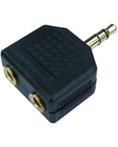 LOGILINK AUDIO ADAPTER STEREO 3.5MM MALE TO 2xSTEREO FEMALE
