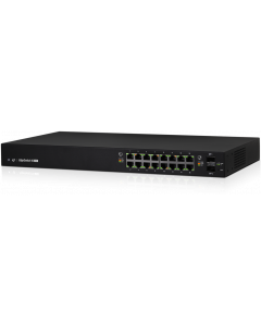 UBIQUITI EDGESWITCH 16-PORT GIGABIT POE + 2-PORT 1G SFP MANAGED POE SWITCH