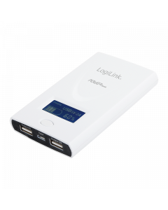 LOGILINK MOBILE POWER BANK WITH LCD 6000mAh - WHITE