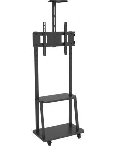 """TECHLY FLOOR SUPPORT WITH SHELF FOR LCD/LED/PLASMA 32-70"""""""