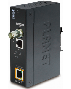 PLANET 1-PORT 10/100/1000TP POE + 1-PORT COAX/UTP INDUSTRIAL