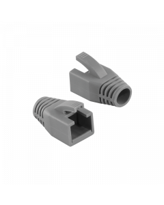 LOGILINK RJ45 PLUG CABLE BOOT 8MM GREY - 10PCS.