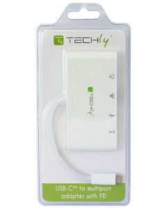 TECHLY ADAPTER USB 3.1/C TO USB 3.0 WITH HDMI, RJ45, 3.1/C