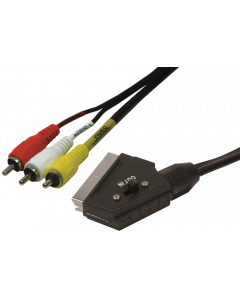 LOGILINK SCART TO RCA CABLE MALE TO MALE - 2M