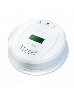LOGILINK CARBON MONOXIDE DETECTOR WITH LCD