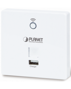 PLANET 802.11n 300MBPS IN-WALL ACCESS POINT W/USB CHARGER