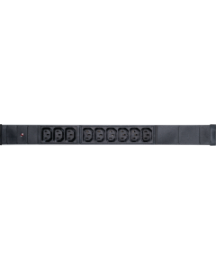 "POWER STRIP 19"" - 9 WAYS - IEC C13 PDU W/LED POWER - 1U"