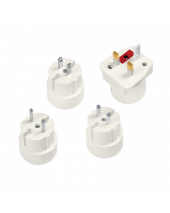 LOGILINK TRAVEL ADAPTER, 4PCS SET, 2A/250V
