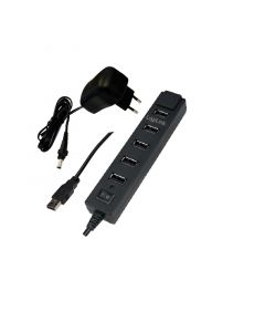 LOGILINK USB 2.0 HUB 7-PORTS WITH POWER SUPPLY 3.5A BLACK