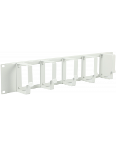 "LOGON 2U 19"" CABLE ORGANIZER PANEL WITH CABLE ENTRY HOLE"