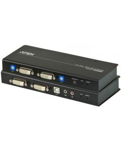 ATEN USB DUAL VIEW DVI DUAL LINK KVM EXTENDER WITH AUDIO & R