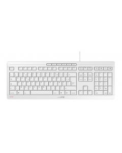 CHERRY STREAM KEYBOARD CORDED KEYBOARD AZERTY BE PALE GREY