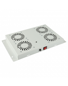 LOGON 4 FANS, ANALOG THERMOSTAT CONTROLLED FAN MODULE WHITE