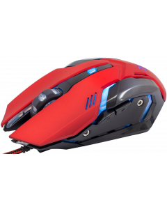 WHITE SHARK MOUSE GM-1604 CAESAR RED / 4800 DPI