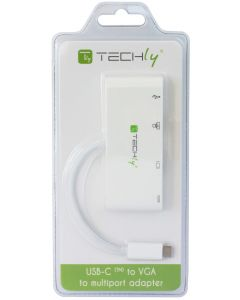 TECHLY ADAPTER USB 3.1/C TO USB 3.0 WITH VGA, RJ45, 3.1/C