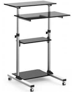 TECHLY COMPACT HEIGHT-ADJUSTABLE MOBILE DESK