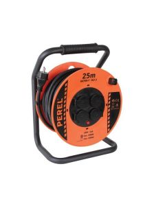 PROFESSIONAL NEOPRENE CABLE REEL 25M 3G2.5 - 4 SOCKETS